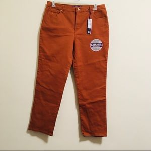 NWT Gloria Vanderbilt Burnt Orange Jeans 16P